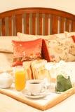 łóżkowy śniadanie Fotografia Stock