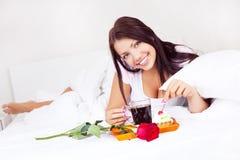 łóżkowy śniadanie Zdjęcie Stock