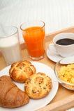 łóżkowy śniadanie obraz royalty free