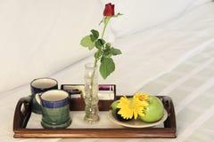 łóżkowy śniadanie n Zdjęcia Royalty Free