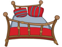 łóżkowy kreskówki meble dom ilustracja wektor