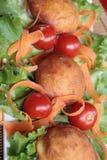 łóżkowy marchewek pączków sałaty tomatoe Obraz Royalty Free