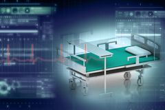 łóżkowy medyczny Obrazy Stock