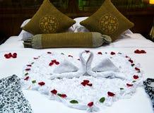 łóżkowy miesiąc miodowy Obraz Stock