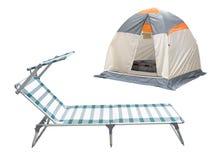 łóżkowy obozowy namiot zdjęcia stock