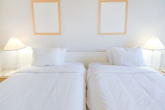 łóżkowy pokój dwa Zdjęcia Stock