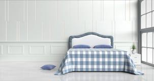 łóżkowy pokój w szczęśliwym dniu zdjęcie royalty free