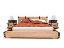 łóżkowy tło biel Obraz Stock