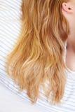 łóżkowy włosy Zdjęcie Royalty Free