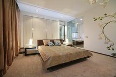 łóżkowy wewnętrzny nowożytny Zdjęcia Royalty Free