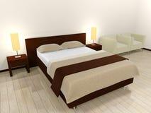 łóżkowy wnętrze Obraz Royalty Free
