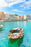 łódź ażio Nikolaos Fotografia Royalty Free