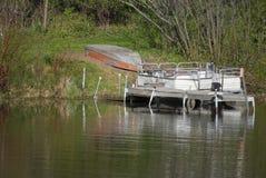 łódź dokująca Zdjęcia Stock