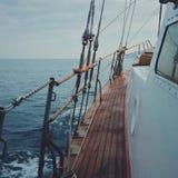 Łódź i morze krajobraz Zdjęcie Royalty Free