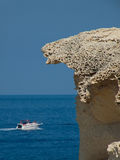 łódź kamień Fotografia Royalty Free