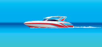 łódź motorowa ilustracja wektor