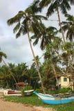 Łódź na Bentota plaży Sri Lanka Fotografia Stock