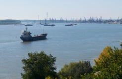Łódź na Danube rzece Rumunia Fotografia Royalty Free