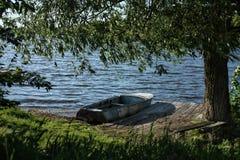 Łódź na doku Obraz Royalty Free