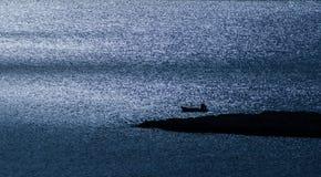 Łódź na Ionian morzu Zdjęcia Royalty Free