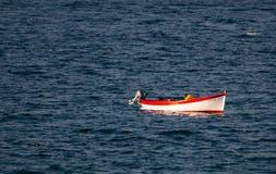 Łódź na Ionian morzu Obrazy Royalty Free