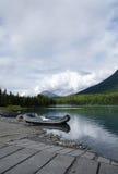 Łódź na Kenai rzece Fotografia Royalty Free