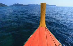 Łódź na morzu Obrazy Royalty Free