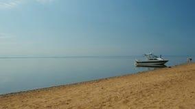 Łódź na plaży zbiory