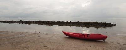 Łódź na plaży Obraz Stock