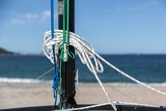Łódź na plaży Fotografia Stock