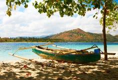Łódź na plaży Zdjęcie Stock