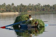Łódź na Rzecznym Nil Obraz Stock