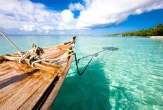 Łódź na wodzie, ocean indyjski Zdjęcie Royalty Free