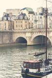 Łódź na wontonie w Paryż Fotografia Stock