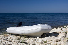 łódź nadmuchiwana Obrazy Stock