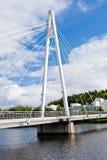 łódź pod most dni zawieszenia Września ładną wodą Fotografia Stock