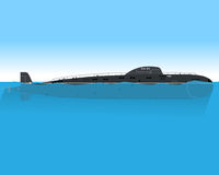 Łódź podwodna przy morzem Obrazy Stock