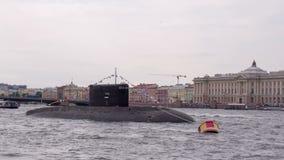 Łódź podwodna w centrum miasteczko zbiory wideo