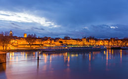Łódź przy Avignone moorage Zdjęcie Stock
