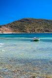 Titicaca łódź Fotografia Royalty Free