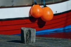 Łódź rybacka - średni ostry tło Zdjęcie Stock