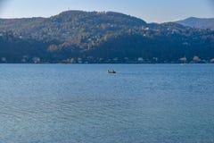 Łódź rybacka, Angera jezioro Maggiore obraz stock