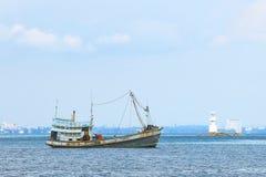 Łódź rybacka, lokalny rybołówstwo zdjęcie stock
