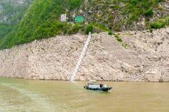 Łódź rybacka na jangcy Zdjęcie Royalty Free