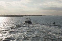 Łódź rybacka na Wadden morzu Obrazy Royalty Free