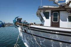 Łódź rybacka trawler, Volos, Grecja obraz stock