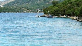 Łódź rybacka w Ionian morzu Fotografia Stock