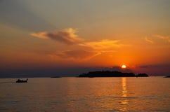 Łódź Rybacka w morzu śródziemnomorskim Fotografia Royalty Free