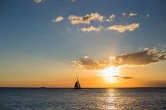 łódź samotna Obraz Royalty Free