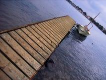 łódź samotna obrazy stock